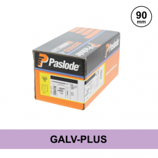 Paslode 141077 - 3.1 x 90mm Galv-Plus Smooth Nails - Qty: 1100 / 1 Gas