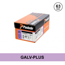 Paslode 141259 - 2.8 x 63mm Galv Plus Ring D Head (Clipped) Nails - Qty: 1100 / 1 Gas